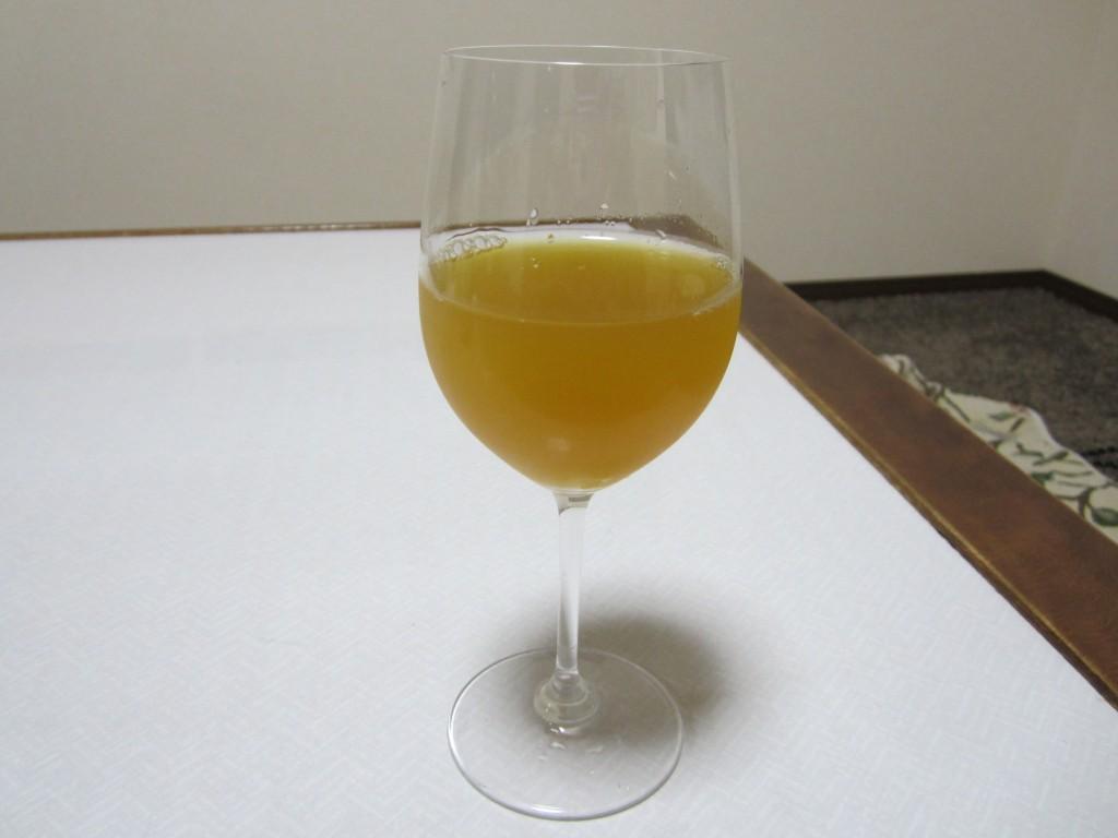 お嬢様酵素オレンジジュース割り